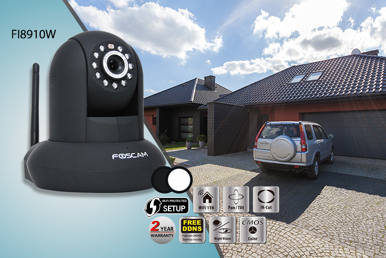 From £45 (from Foscam) for an FI8910W, FI9821P or FI9805W wireless security camera or £150 for both the FI9821P & FI9805W - save up to 31%