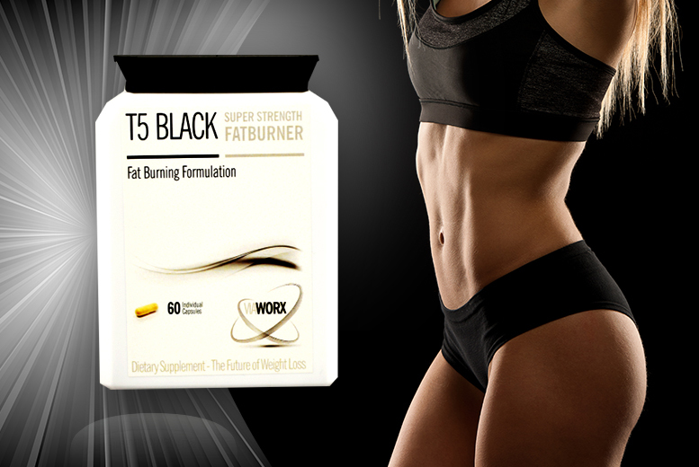 £17 instead of £105 (from Ultra Supplements) for a 3-month* supply of black T5 super strength 'fat burner' - save 84% + DELIVERY INCLUDED!