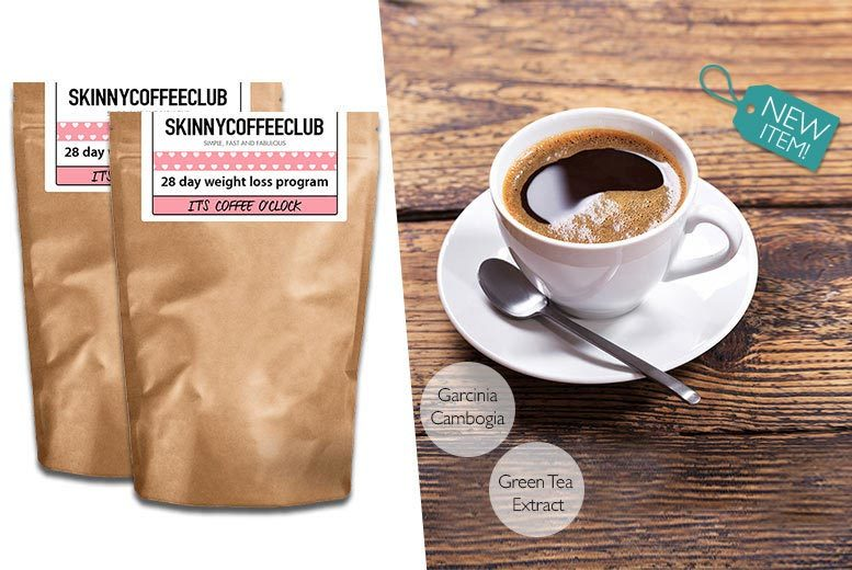 £25 instead of £46.90 (from Skinny Coffee Club) for a 56-day weight loss programme - stock up on your stimulants, start slimming and save 50%