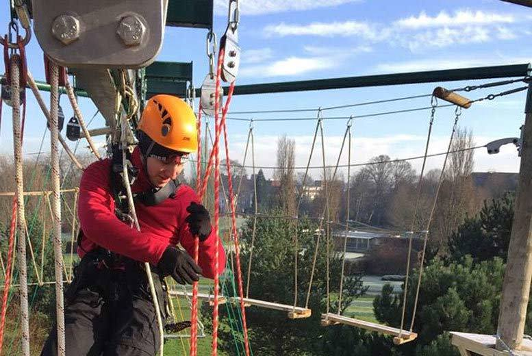 £10 for an aerial adventure day for one, £19 for two or £37 for four at High Places Horsham - save up to 50%
