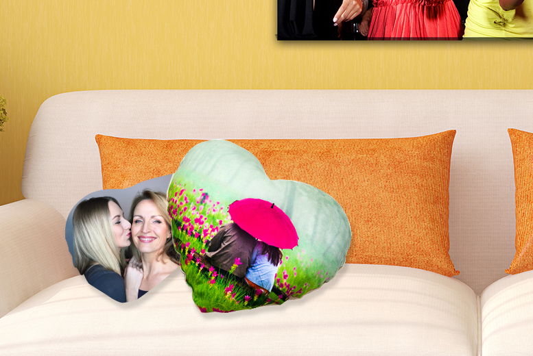 £9.99 instead of £22.99 (from Dip Into Sales) for a small personalised photo cushion, or £14.99 for a large cushion - save up to 57%