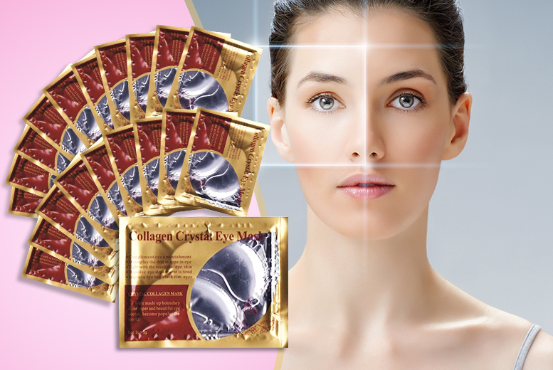 £8 instead of £82 (from SalonBoxed) for a set of 40 'crystal' collagen eye masks - treat your peepers and save 90%