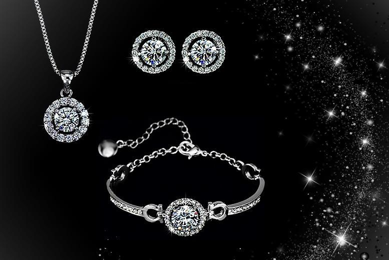 £10 (from Romatco) for a faith trio set made with Swarovski Elements