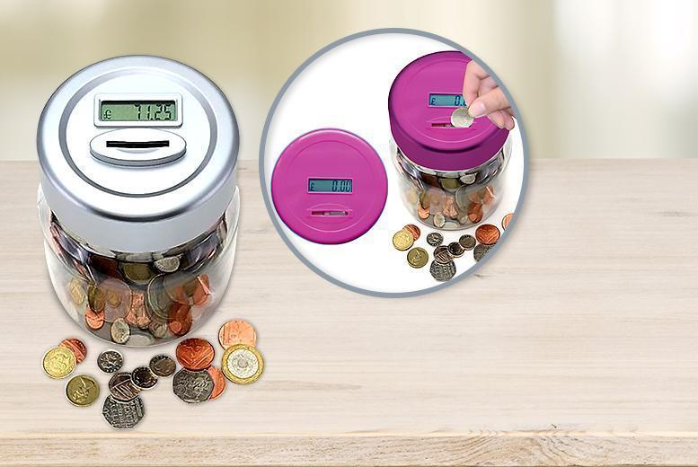 £4.99 instead of £10 (from Zoozio) for a digital coin counter - choose from silver or pink and save 50%