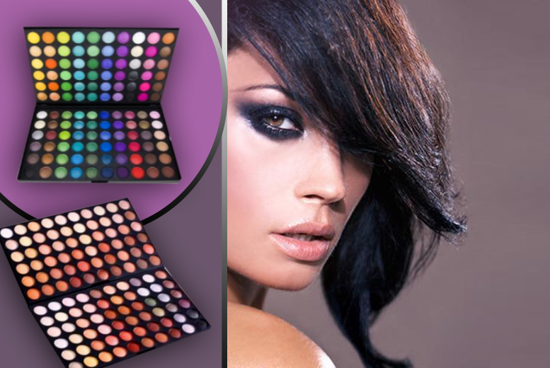 £6.99 instead of £55.90 (from Salon Boxed) for two 120-colour eyeshadow palettes in bright and warm selections - save 87%.