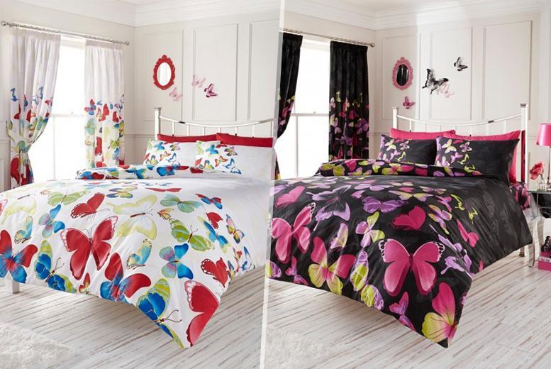 £10 (from Your Essential Store) for a single butterfly duvet set, £12 for a double, £14 for king size or £17 for super king size - save up to 75%