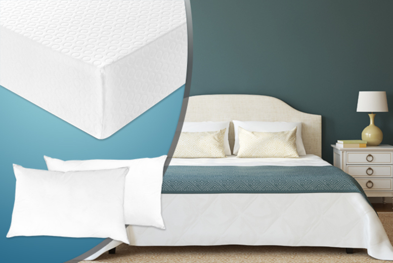 £79 (from Sleep Solutions) for a single memory foam mattress and pillow, £99 for double, £109 for king, £129 for super king - save up to 62%