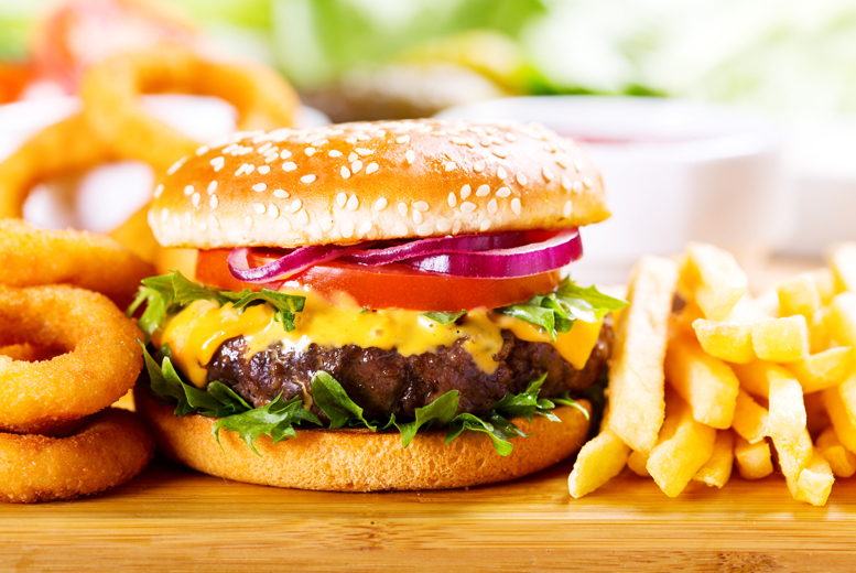 £9.99 instead of up to £20.40 for a homemade burger meal for 2 inc. fries, a side and soft drink each at Othello Restaurant, Wakefield - save up to 51%