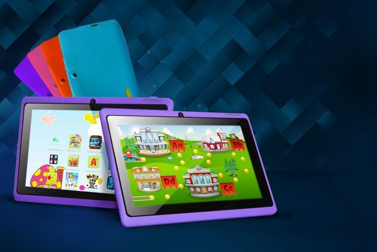 £32.99 instead of £109.99 (from D2D) for a 7-inch dual core touchscreen Android tablet for kids! - choose from 4 colours & save 70%