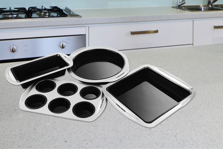 £14.99 instead of £65 (from Kitchen Gadgets) for a black 4pc Morphy Richards bakeware set - save 77%