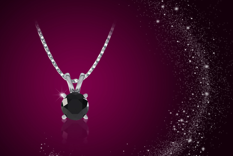 £79 instead of £178 (from Rocks of London) for a black diamond and white gold solitaire necklace, or £149 for a clear diamond necklace - save up to 56%