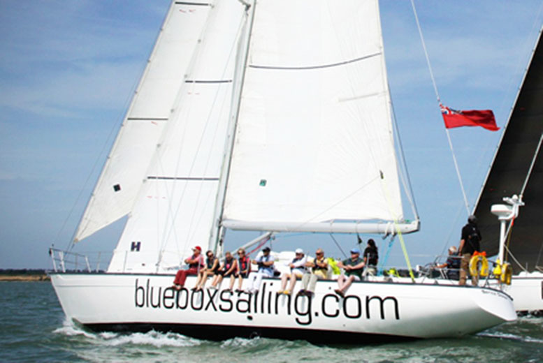 £69 instead of £149 for an ocean race yacht sailing experience from Blue Box Sailing, Southampton - save 54%