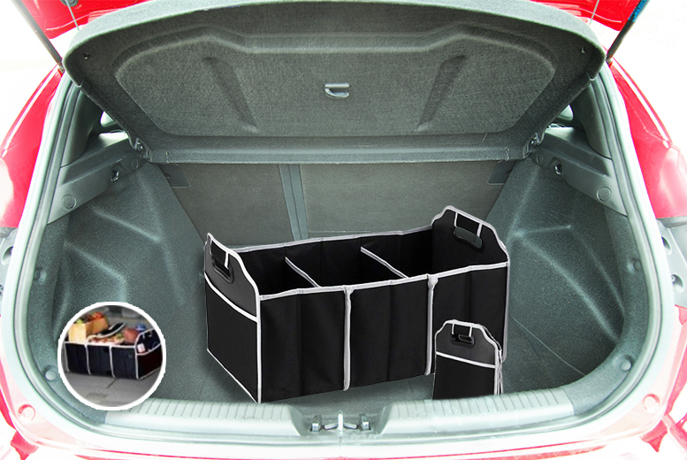 £4.99 instead of £19.99 (from The Treasure Chest) for a foldable car boot organiser with compartments - tidy up and save 75%