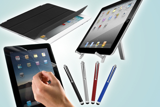 £11.99 instead of £49.99 (from Time2) for an iPad 2, 3 or 4 accessories bundle inc. a smart cover, stylus pen, foldable stand & screen protector - save 76%