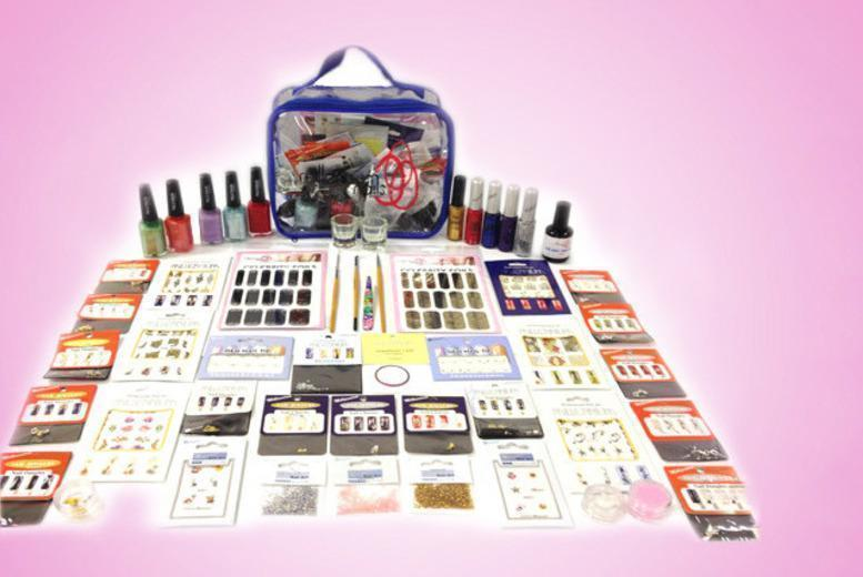 £19 for a 60-piece Mega Millennium nail art kit plus a presentation bag