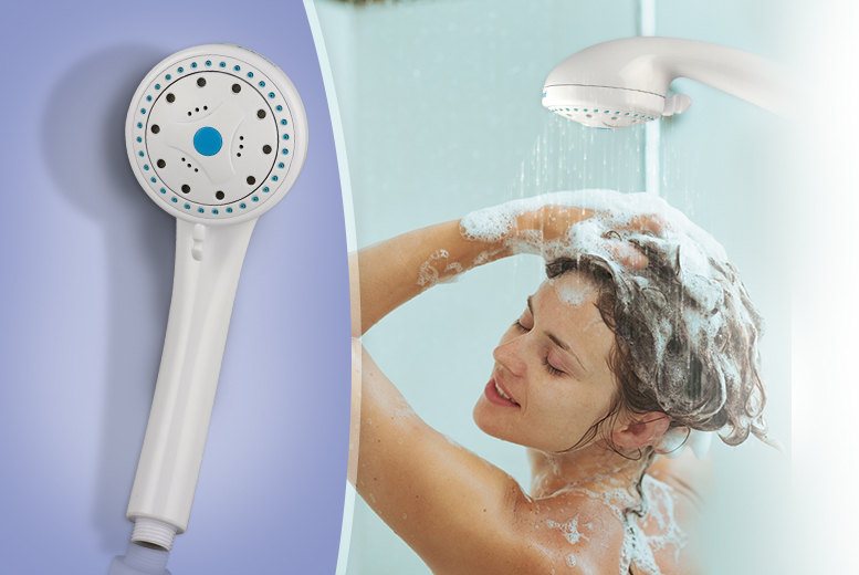 £8.99 instead of £29.99 (from SA Products) for a 5-in-1 massaging shower head - save 70%