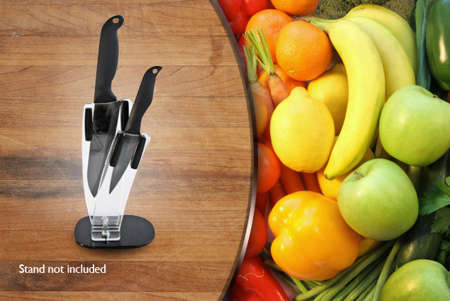 "£27.50 instead of £54.99 (from The Ceramic Knife Company) for a 3"" and 4"" ceramic knife set - save a sharp 50%"