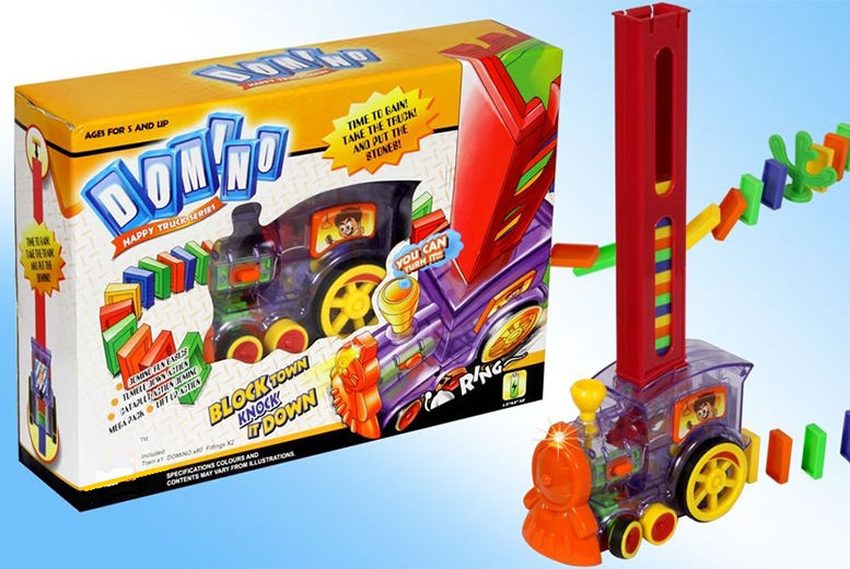 The Best Deal Guide - Motorised Domino Train Toy - 80 Dominoes!