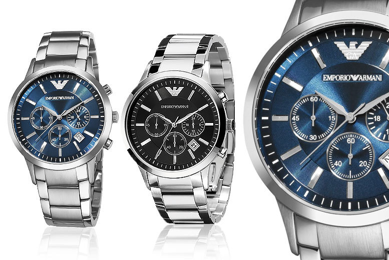 £129 instead of £282.01 (from Wristy Business) for an Armani Men's watch - choose from two designs and save 54%