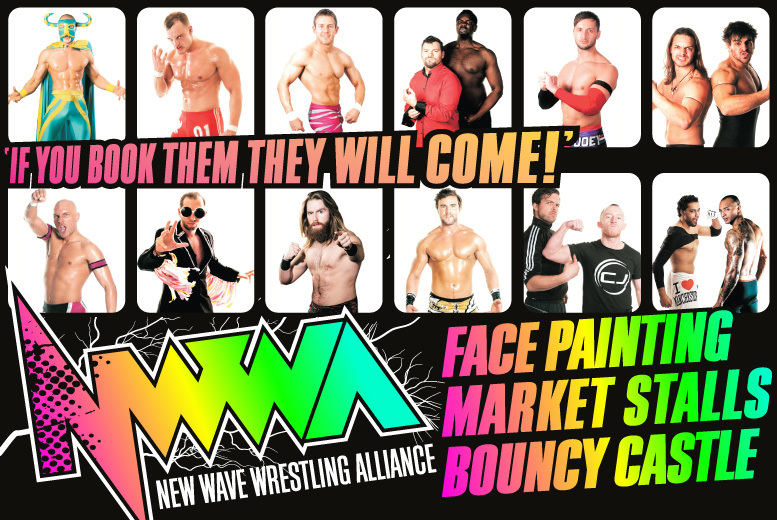 £9 instead of £30 for a family ticket to see a live match from New Wave Wrestling Alliance at Victoria Baths - save 70%