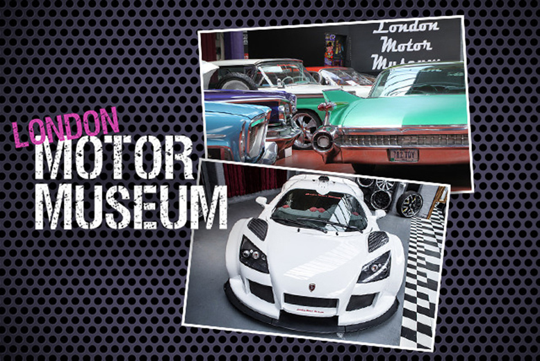 £9.50 for a child ticket to the London Motor Museum, £12.75 for an adult ticket, £25 for 2 adults or £35 for a family - save up to 52%