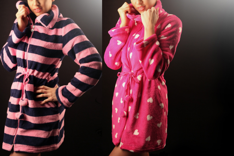 £10.99 instead of £34.99 (from Who Runs The World) for a love heart or candy stripe 'love robe' - save 69%