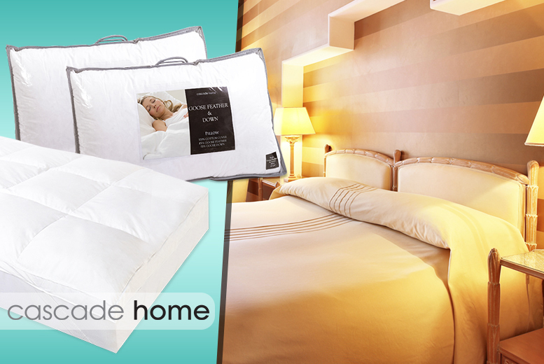 From £19 instead of up to £50.01 for a luxury duck feather mattress topper or a pair of goose feather and down pillows from Wowcher Direct - save up to 62%