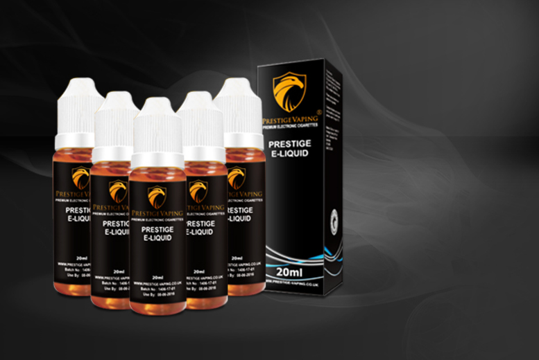 £12.99 instead of £29.21 (from Prestige Vaping) for five 20ml XL e-liquid refills - save 56%