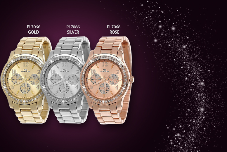 £14.99 instead of £46.01 for a NY London crystal watch from Wowcher Direct - choose from 5 styles and save 67%