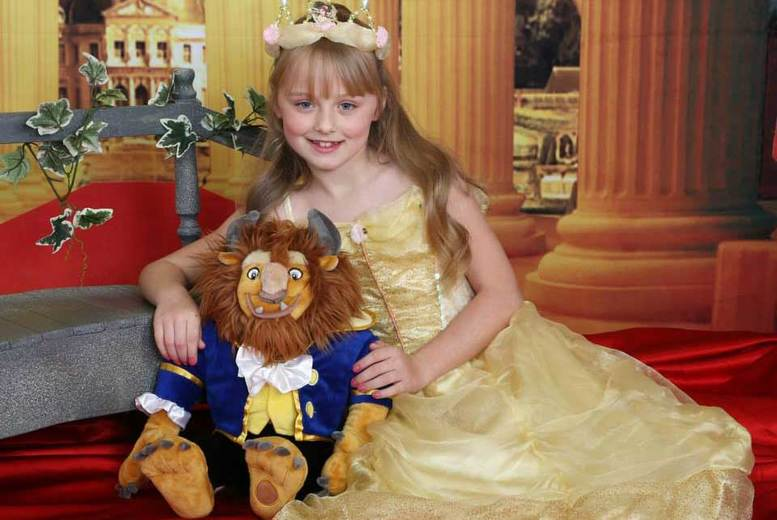 "£9 for a Beauty and The Beast or princess photoshoot for one or two children with two 7"" x 5"" prints and a goody bag from Picture Perfect by Mario, Kent - save 95%"