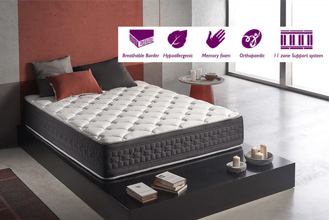 Luxury Soothing 11-Zone Memory Foam Mattress