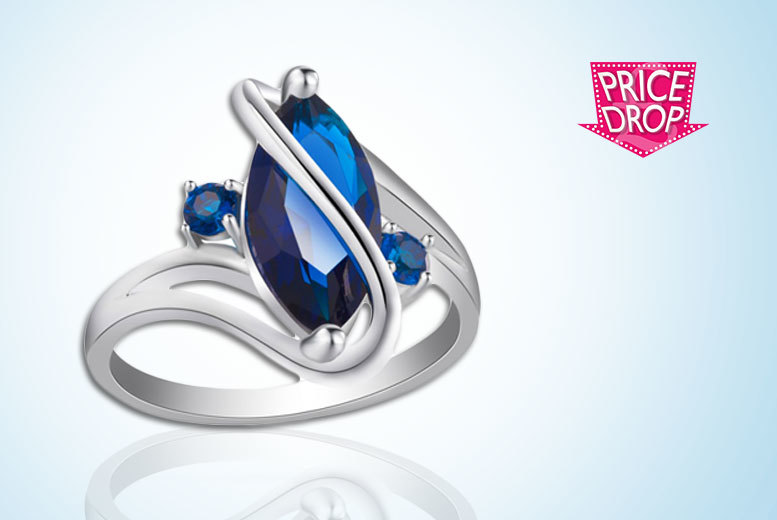 Your Ideal Gift Blue Crystal Ring