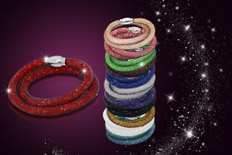 £8 instead of £50 (from Cian Jewels) for a stardust mesh crystal bracelet or £14 for two - choose from 12 colours!