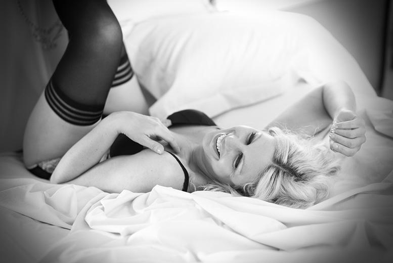 "£9 for a boudoir photoshoot for 1 including bubbly, chocolates, strawberries and a 12"" x 8"" print, £15 for 2 people at Pure Boudoir, Huddersfield - save up to 80%"