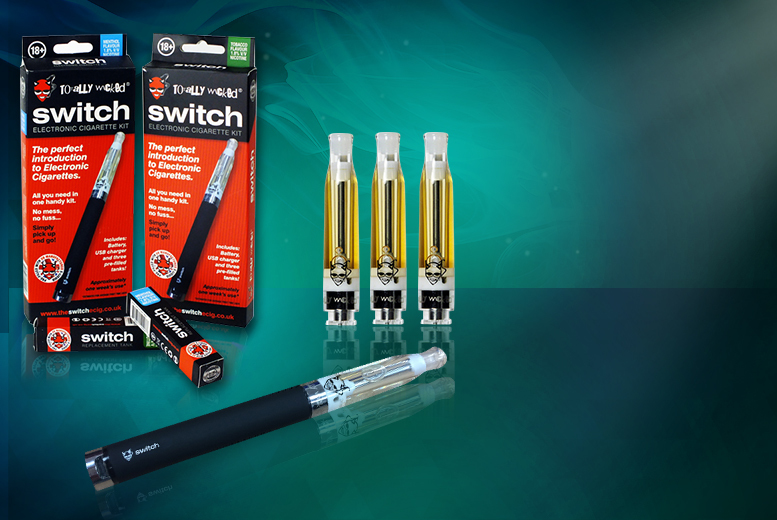 £11.99 instead of £17.98 (from Totally Wicked E-liquid) for a 6-piece easy to use e-cigarette kit with a menthol or tobacco flavoured refill – save 40%