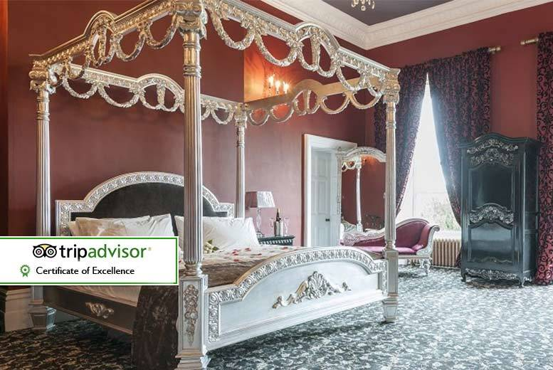 £129 for an overnight stay for two people with breakfast, a two-course dinner and glass of sparkling wine each at Alfreton Hall, Derby