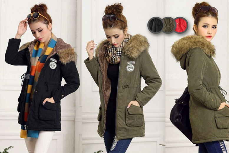 £17.99 instead of £61 (from EFMall) for a women's fleece-lined parka coat - choose from three colours and save 71%