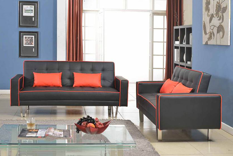 £129 for a 2seater PU leather zipper sofa bed, or a 3seater for £