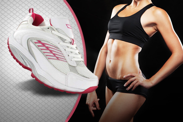 £17.95 for a pair of ladies' toning Active Fit Step Up trainers from Dallas House