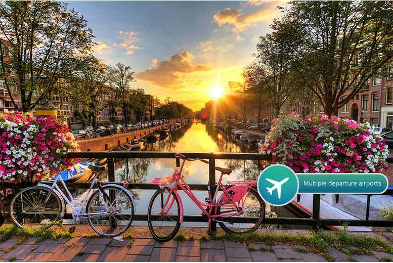 From £89pp (from Crystal Travel) for a two-night 4* Amsterdam break including flights, or stay three nights from £229pp - save up to 52%