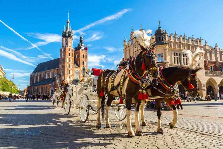 From £89pp for a 4* two-night Krakow spa break with flights, optional Auschwitz tour and wine - choose from nine departure airports and save up to 46%
