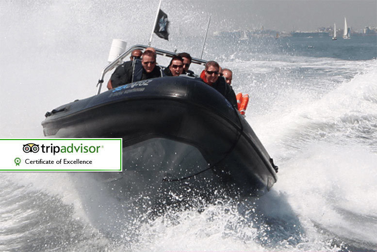 £18 instead of £45 for a 60-minute extreme RIB boating experience for one person, £22 for a 90-minute with Seadogz, Southampton - save up to 60%