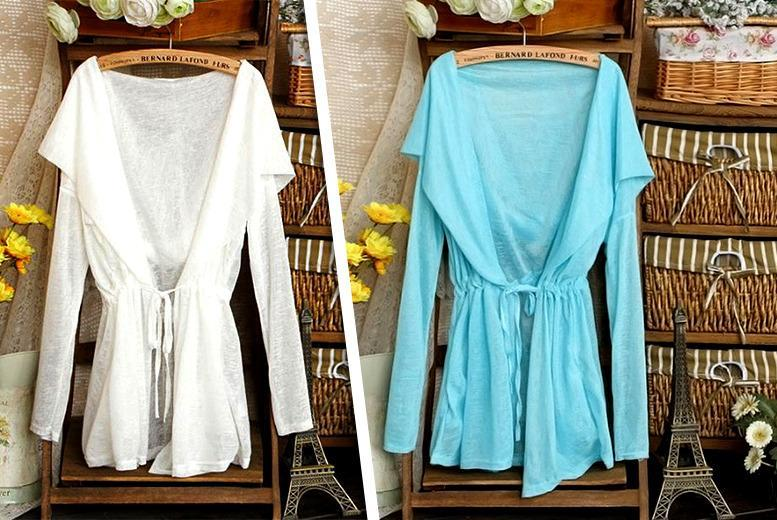 £7.99 instead of £39.99 (from Boni Caro) for a lightweight hooded cardigan - choose from 3 colours & save 80%