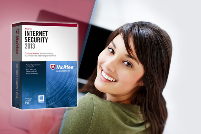 £16.99 instead of £27.49 (from SRE Computing) for a 1-year McAfee Internet Security 2013 package - save 38%