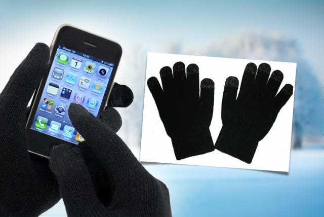 £5 for a pair of black touchscreen gloves from Wowcher Shop - combat the cold and stay connected!