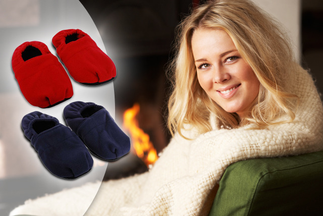 £10 instead of £29.99 (from EGUK) for microwaveable, lavender-scented fleece slippers - keep warm this winter and save 67%
