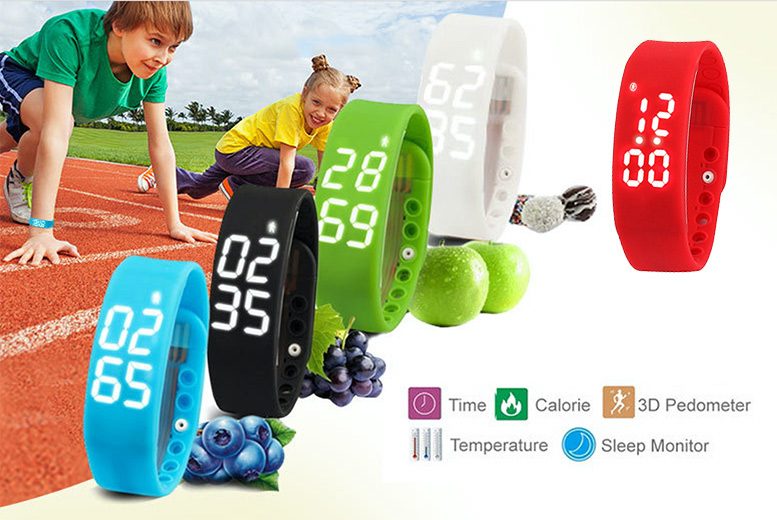 £7.99 instead of £19.99 (from ) for a kids' smart fitness activity watch - monitor steps taken, quality of sleep and save 60%