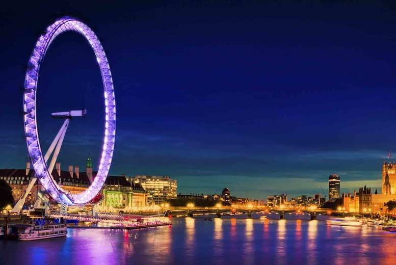 From £89pp (from OMGhotels.com) for an overnight London stay with breakfast and Champagne London Eye experience