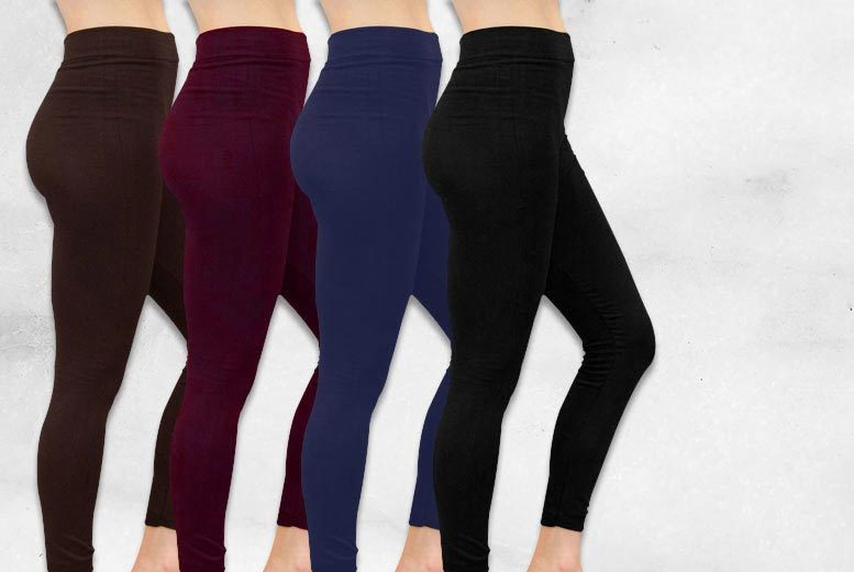 £12 instead of £52.97 (from Nothing New 2 Wear) for four pairs of fleece-lined leggings - get four fabulous colours save 77%