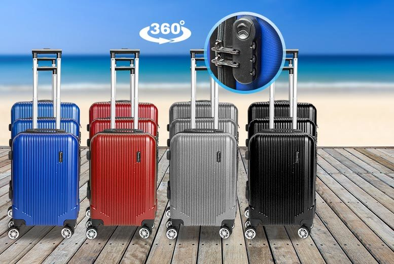 3pc Lightweight 360 Spin Luggage Set with 4 Wheels